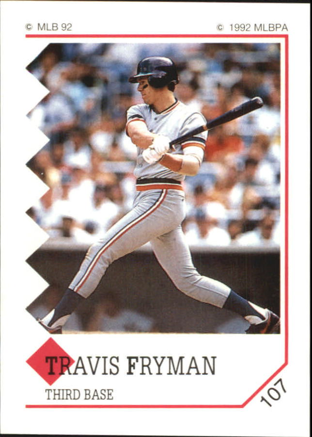1992 Panini Stickers #107 Travis Fryman