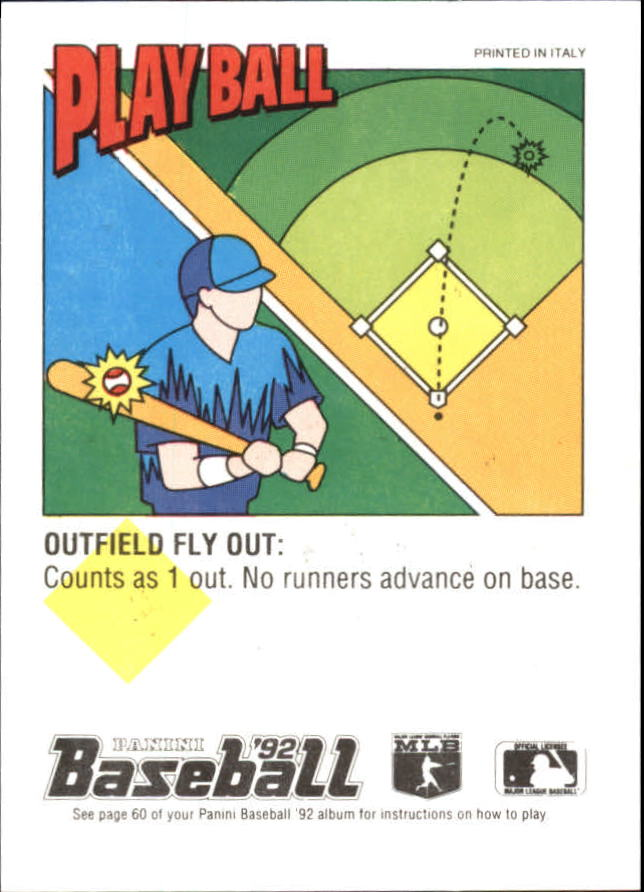 1992 Panini Stickers #114 Brian Harper back image