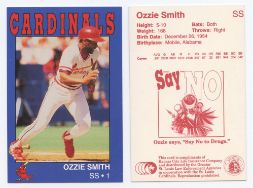1993 Cardinals Police #20 Ozzie Smith