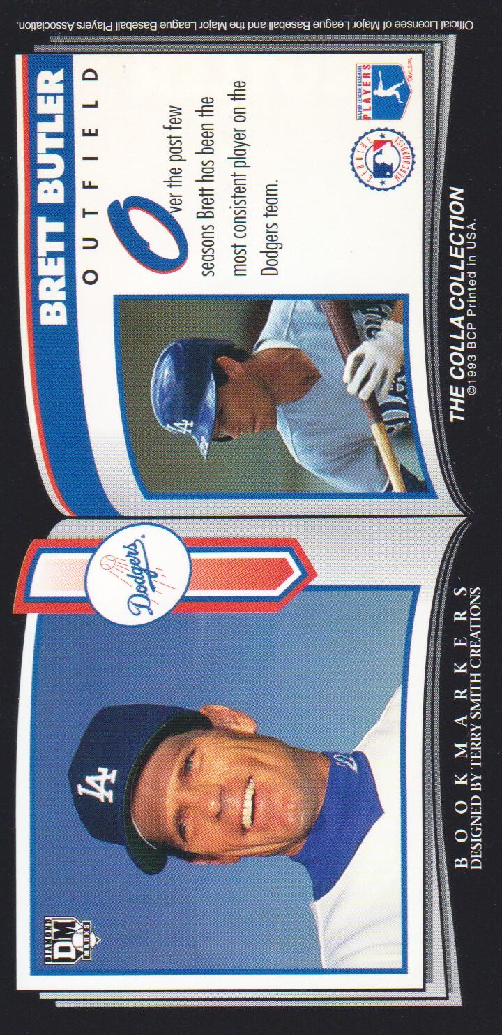 1993 Diamond Marks #20 Brett Butler back image