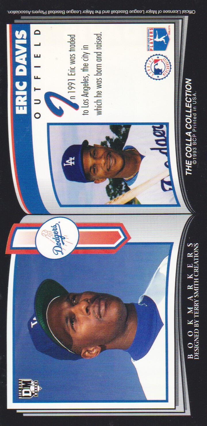 1993 Diamond Marks #28 Eric Davis back image
