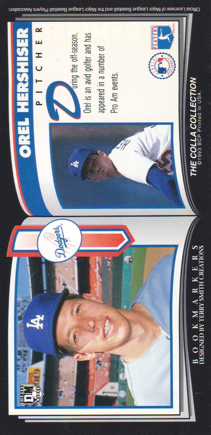 1993 Diamond Marks #51 Orel Hershiser back image