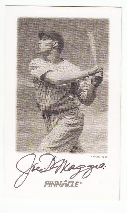 1993 Pinnacle DiMaggio Autographs Yankee Clipper #1 Joe DiMaggio/Spring 1936