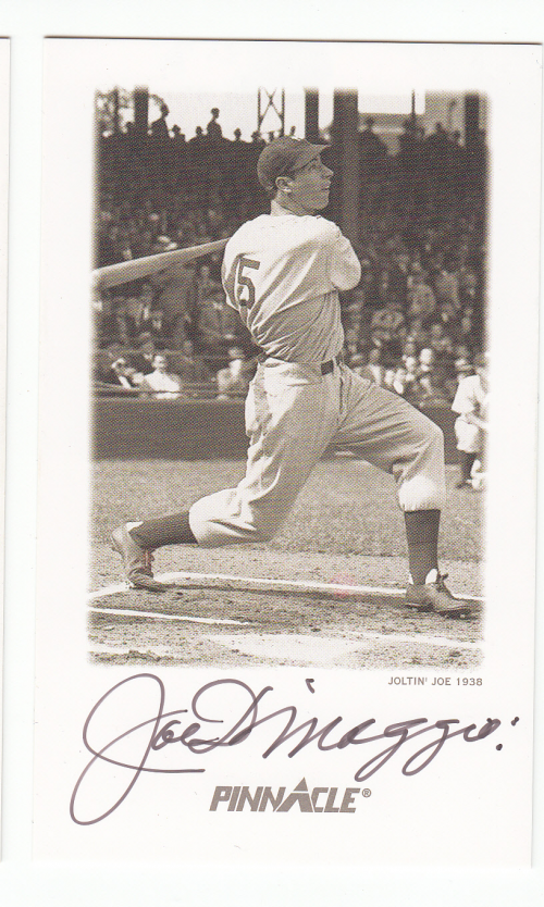 1993 Pinnacle DiMaggio Autographs Yankee Clipper #2 Joe DiMaggio/Joltin' Joe