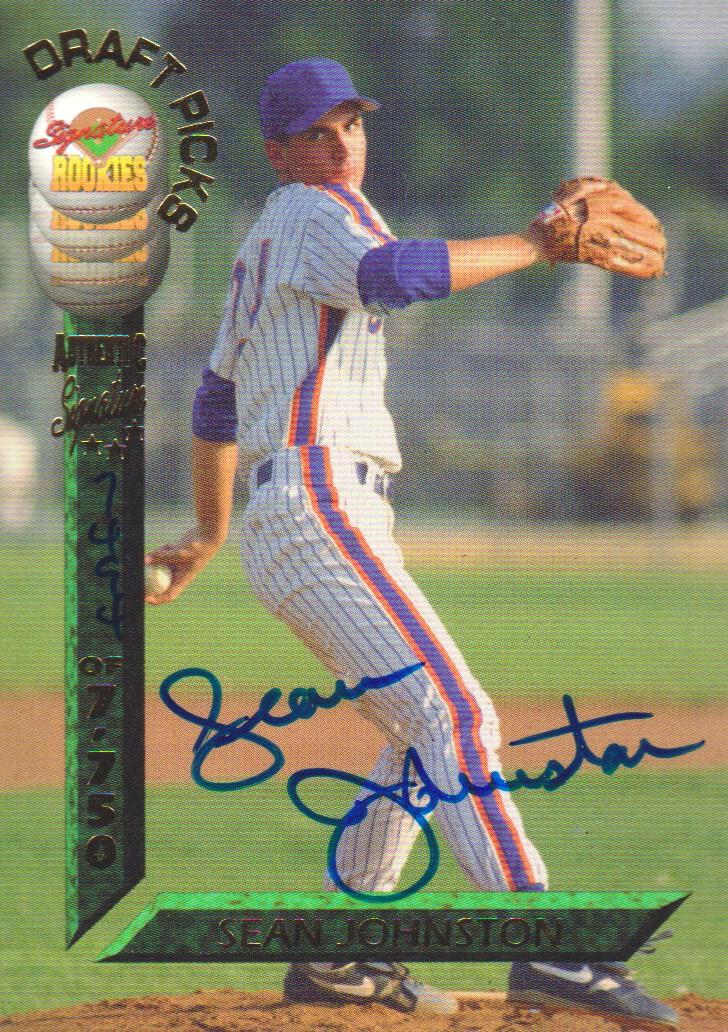 1994 Signature Rookies Draft Picks Signatures #33 Sean Johnston
