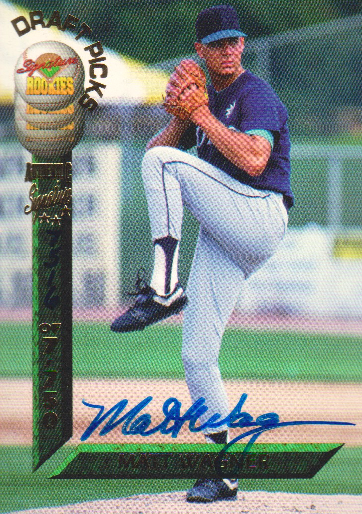 1994 Signature Rookies Draft Picks Signatures #64 Matt Wagner
