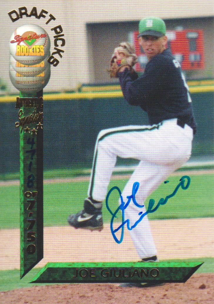 1994 Signature Rookies Draft Picks Signatures #70 Joe Giuliano