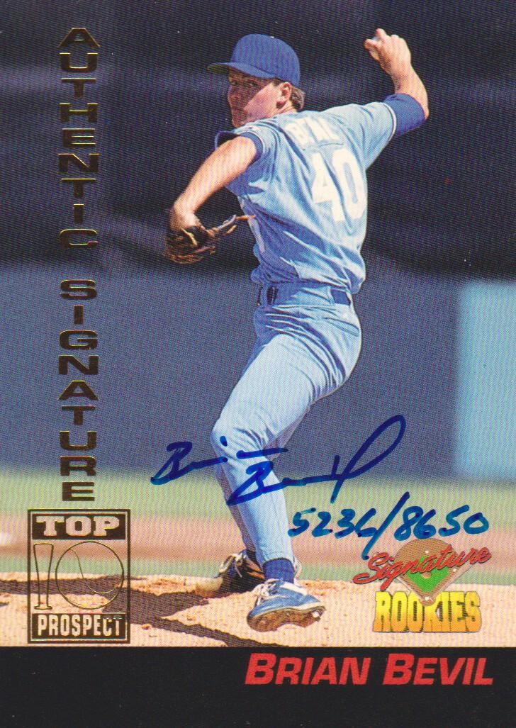 1994 Signature Rookies Signatures #4 Brian Bevil