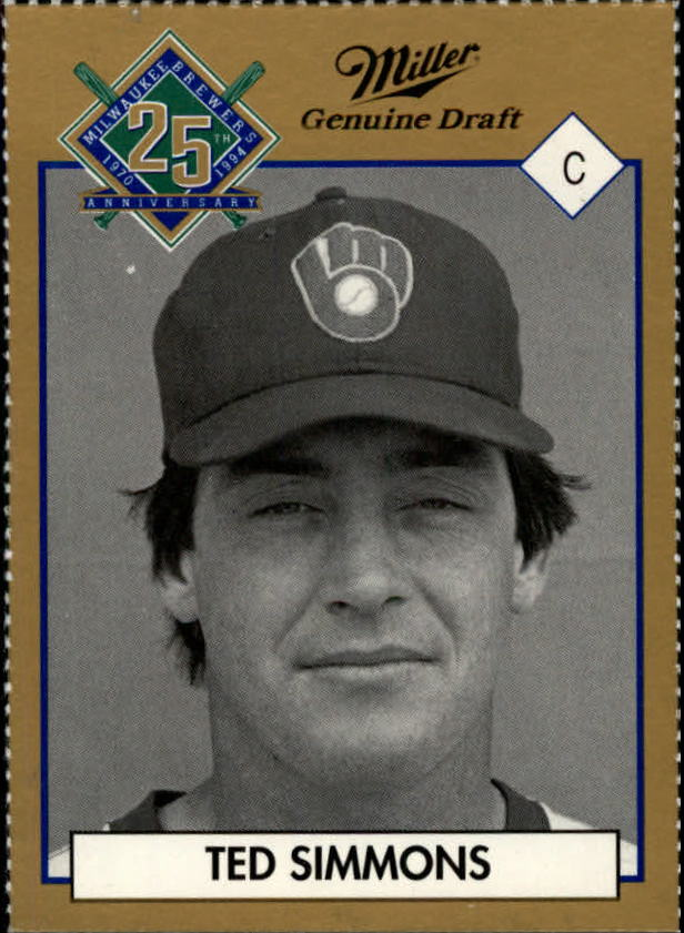 1994 Brewers Miller Brewing #352 Ted Simmons/(Head Shot)