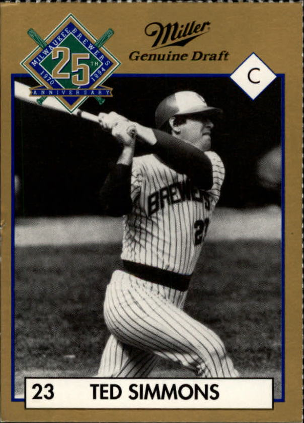 1994 Brewers Miller Brewing #353 Ted Simmons/(Action Shot)