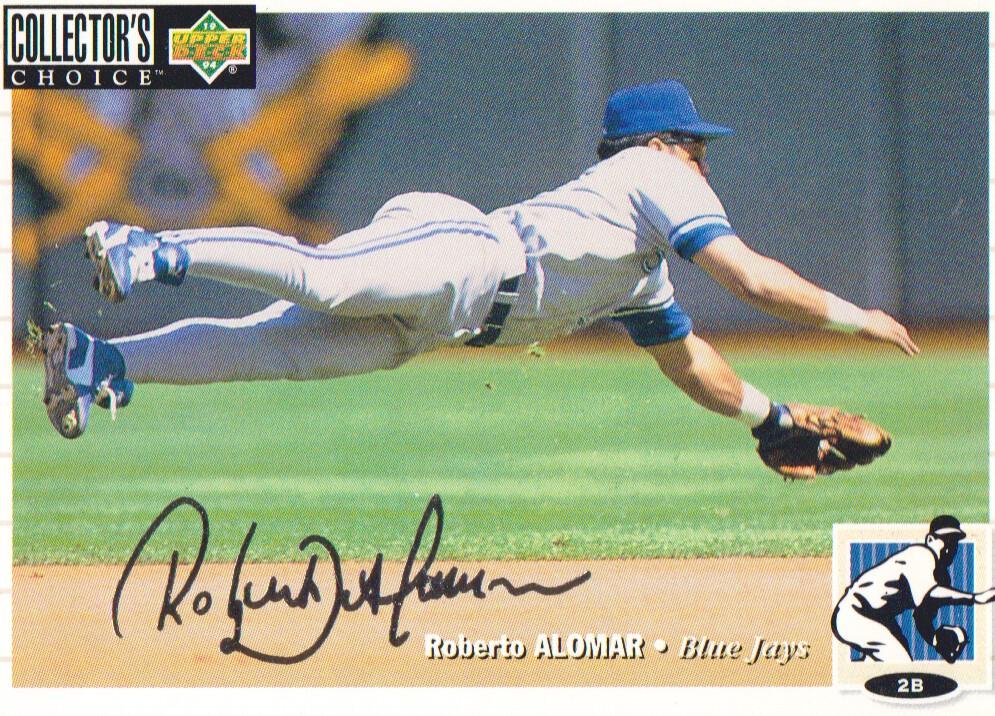 1994 Collector's Choice Silver Signature #33 Roberto Alomar