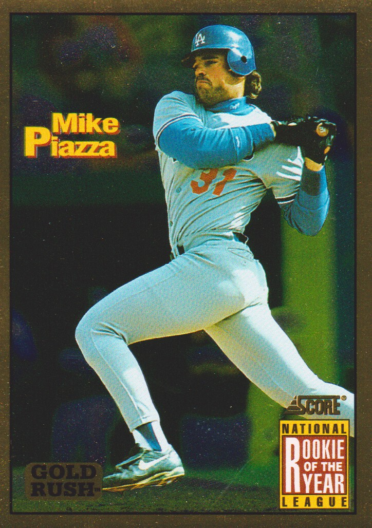 1994 Score Gold Rush #636 Mike Piazza ROY