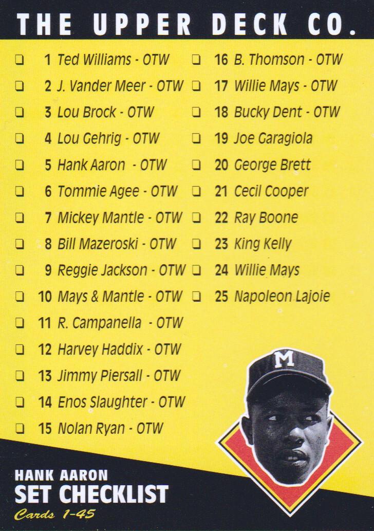 1994 Upper Deck All-Time Heroes #75 Hank Aaron CL