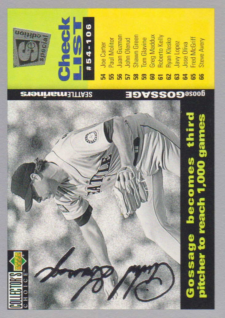1995 Collector's Choice SE Silver Signature #262 Goose Gossage CL