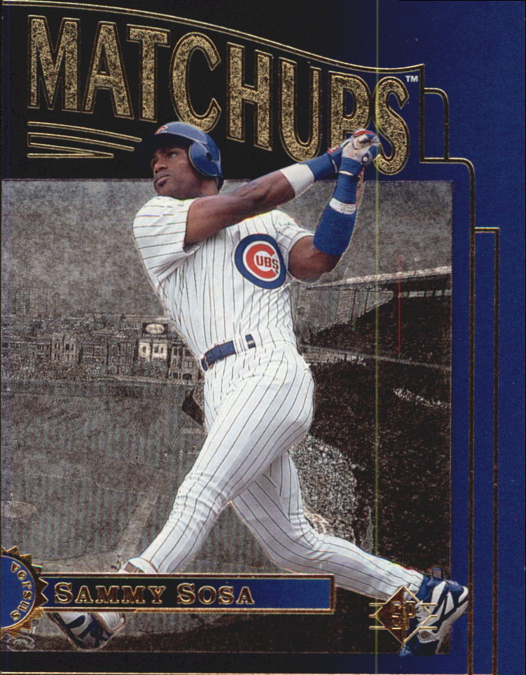 Honkbal Verzamelkaarten: sport 1996 SP Holoview Special FX #33 Sammy Sosa Chicago Cubs Baseball Card