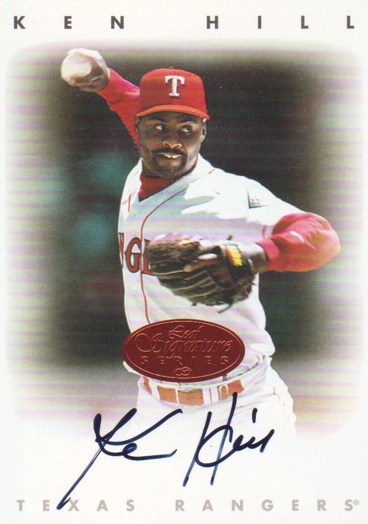 1996 Leaf Signature Autographs #103 Ken Hill