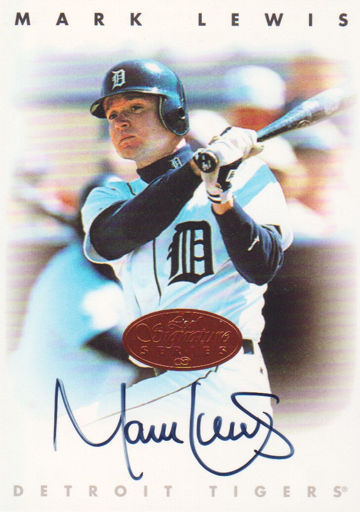 1996 Leaf Signature Autographs #135 Mark Lewis