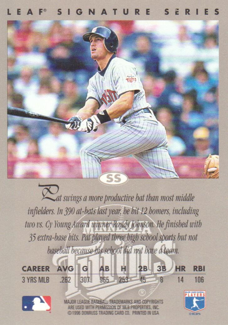 1996 Leaf Signature Autographs #152 Pat Meares back image