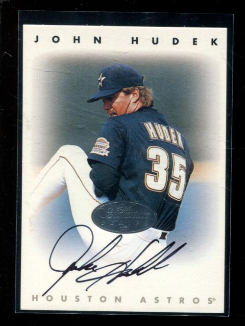1996 Leaf Signature Autographs Silver #110 John Hudek
