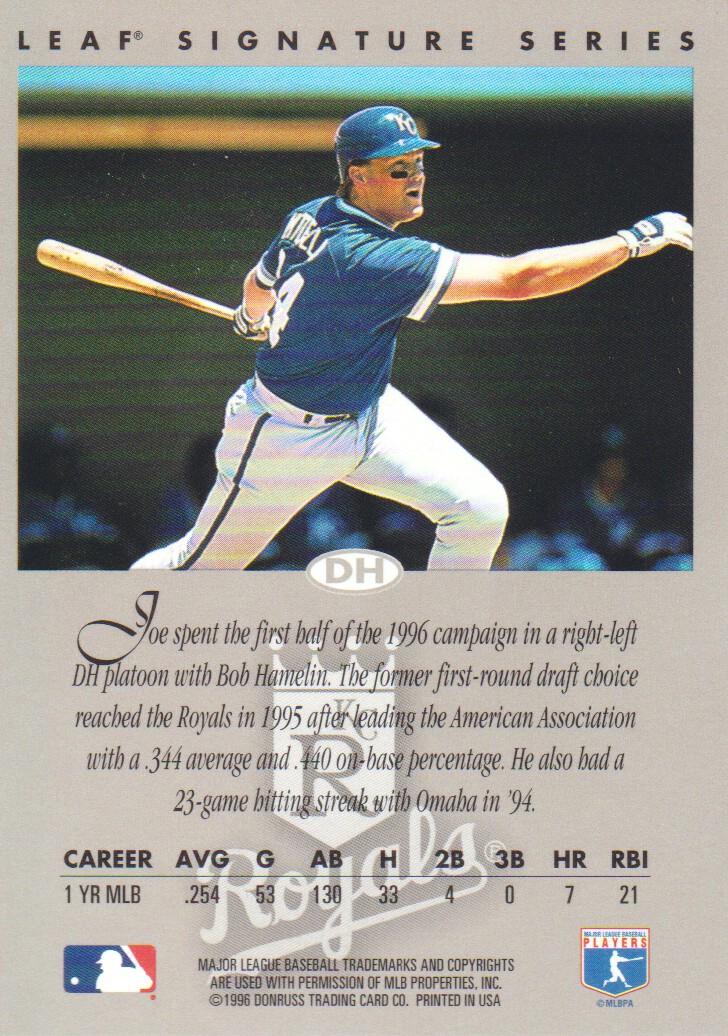 1996 Leaf Signature Autographs Silver #232 Joe Vitiello back image