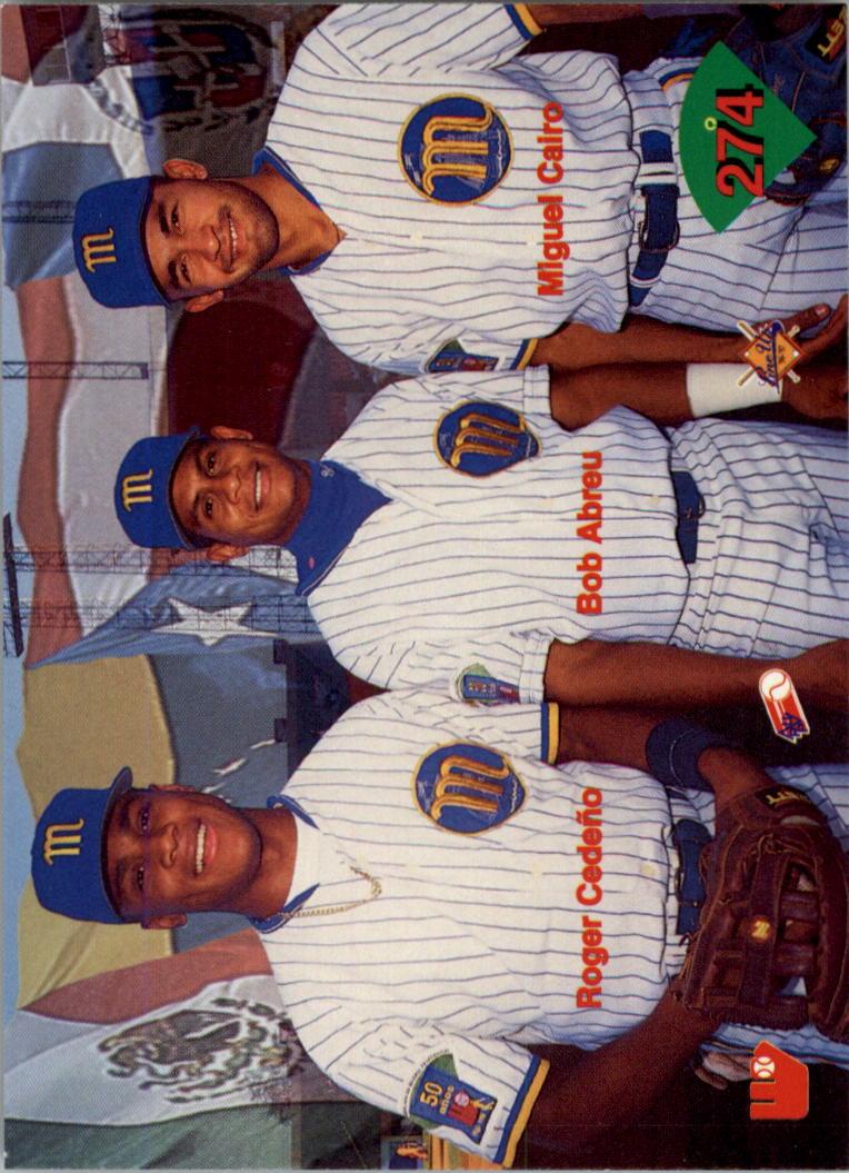 1996-97 Lineup Venezuela #274 Huck Flener/Omar Daal/Travis Baptist/Edwin Hurt back image