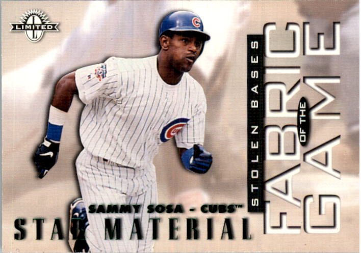 1997 Donruss Limited Fabric of the Game #7 Sammy Sosa S