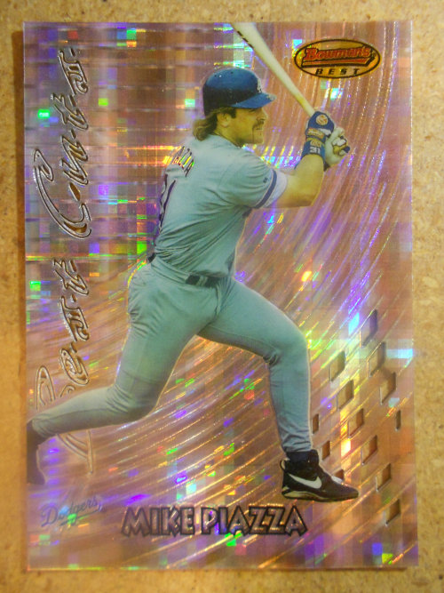 1997 Bowman's Best Best Cuts Atomic Refractor #BC8 Mike Piazza