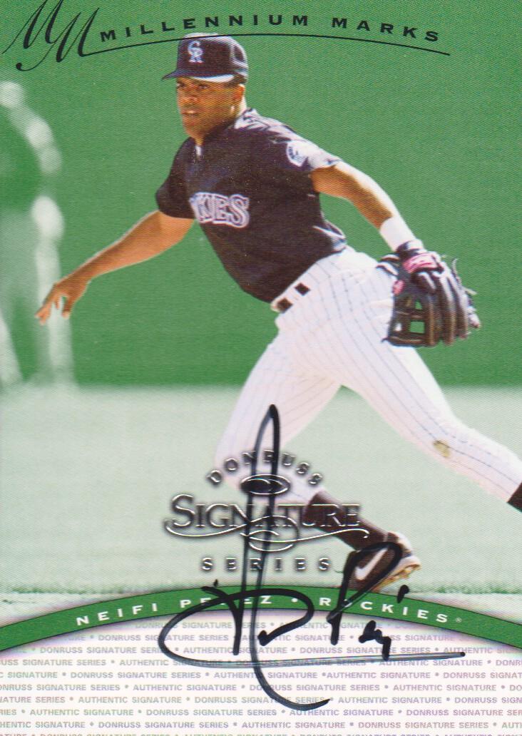 1997 Donruss Signature Autographs Millennium #97 Neifi Perez