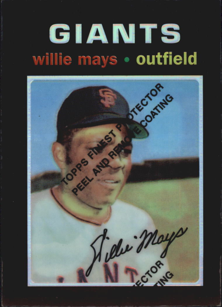 1997 Topps Mays Finest Refractors #25 Willie Mays