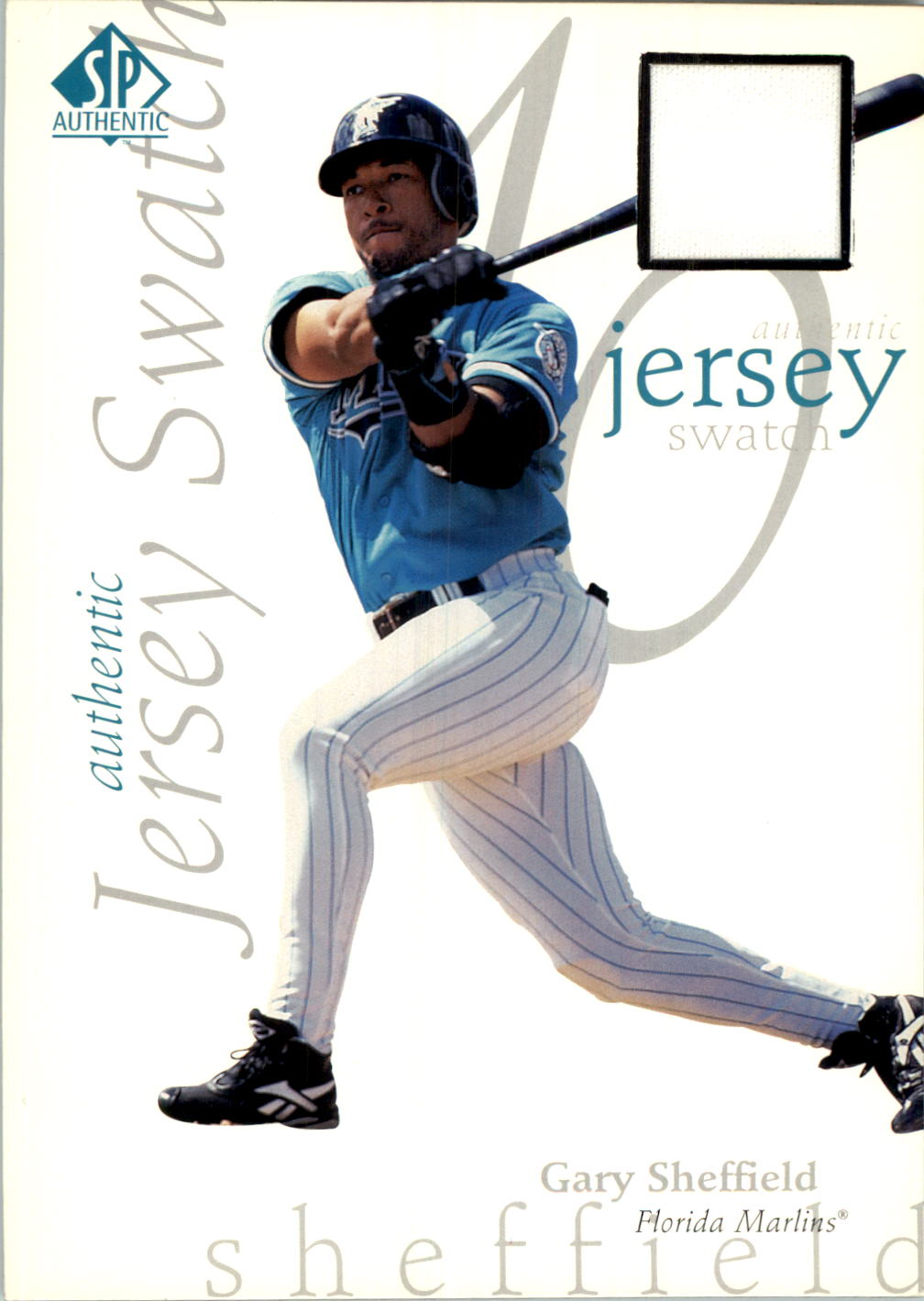 1998 SP Authentic Game Jersey 5 x 7 #2 Gary Sheffield/125