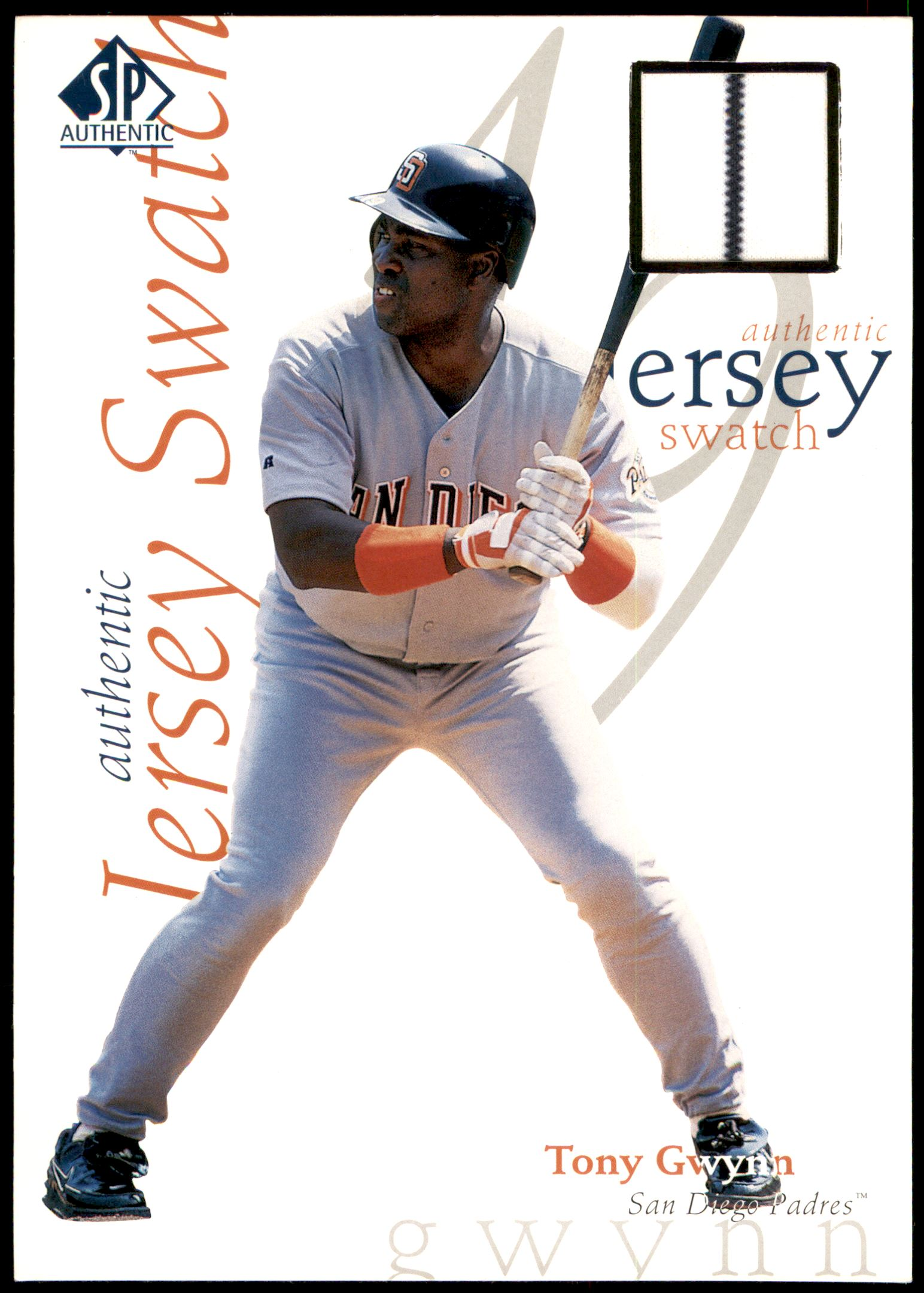1998 SP Authentic Game Jersey 5 x 7 #5 Tony Gwynn/415
