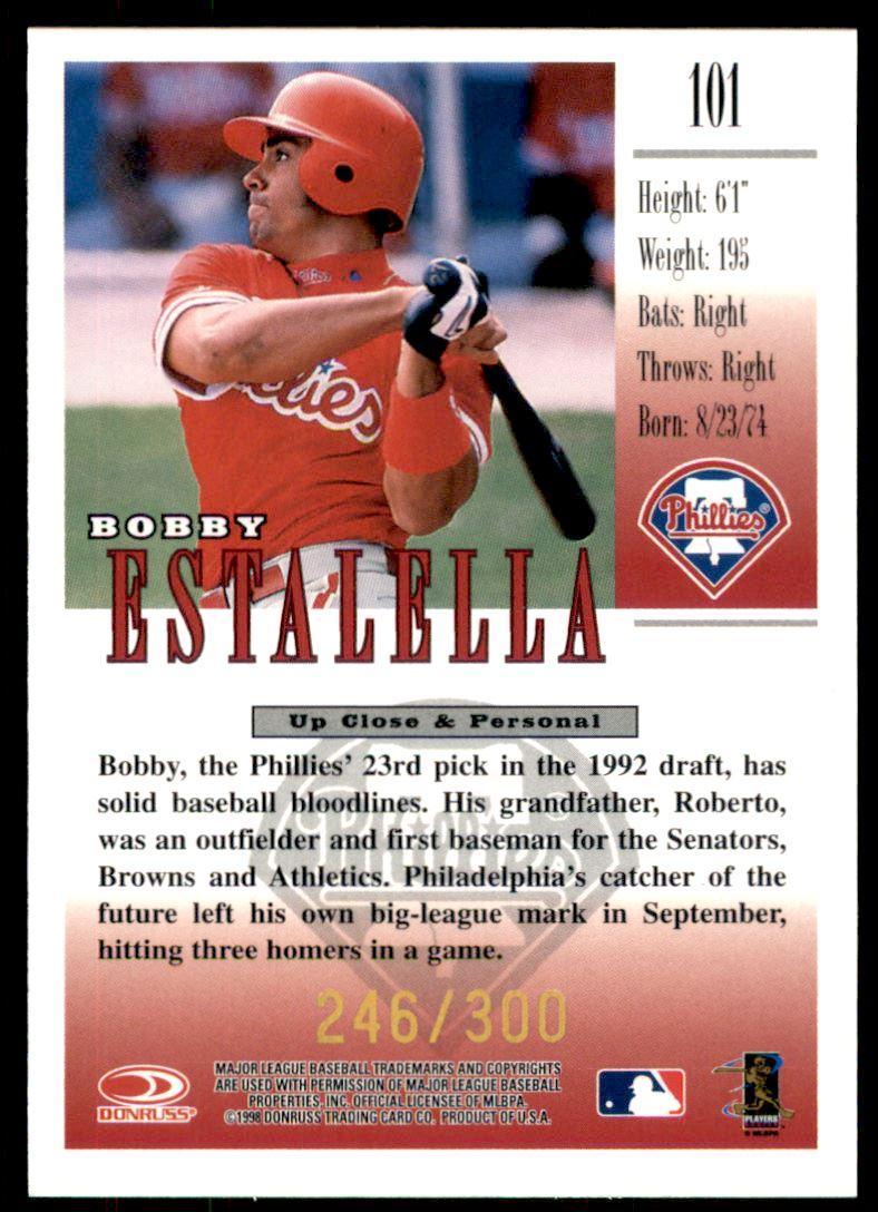 1998 Studio Gold Press Proofs #101 Bobby Estalella back image