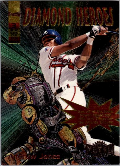 1998 Metal Universe Diamond Heroes #3 Andruw Jones