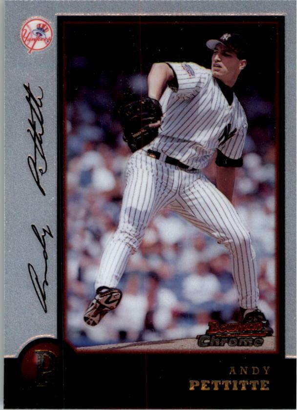 1998 Bowman Chrome #3 Andy Pettitte