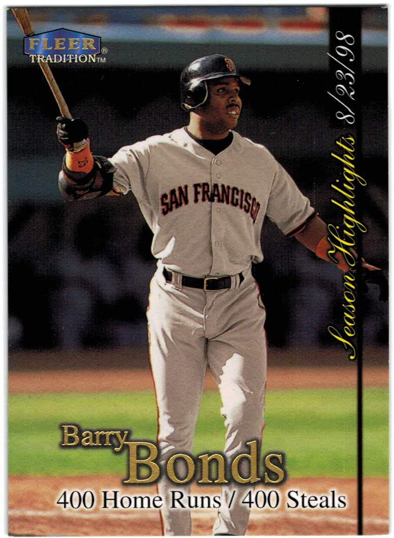1998 Fleer Tradition Update #U4 Barry Bonds HL