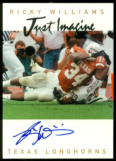 1999 Just Imagine Autographs #24 Ricky Williams