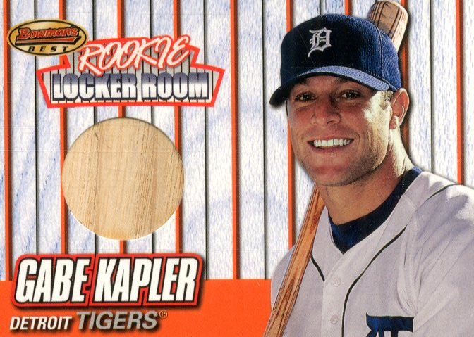 1999 Bowman's Best Rookie Locker Room Game Used Bats #RB4 Gabe Kapler