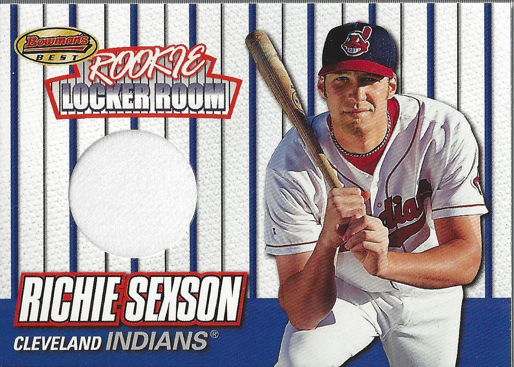 1999 Bowman's Best Rookie Locker Room Game Worn Jerseys #RJ1 Richie Sexson