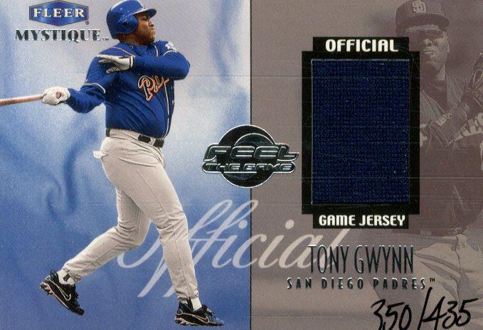 1999 Fleer Mystique Feel the Game #4 T.Gwynn Jersey/435
