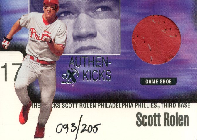 1999 E-X Century Authen-Kicks #8 Scott Rolen/205