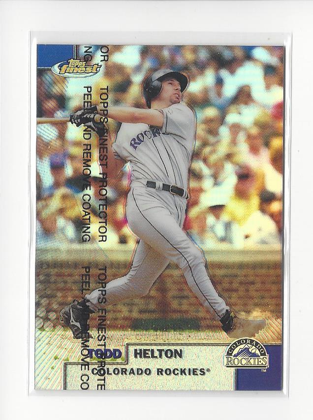 1999 Finest Refractors #248 Todd Helton