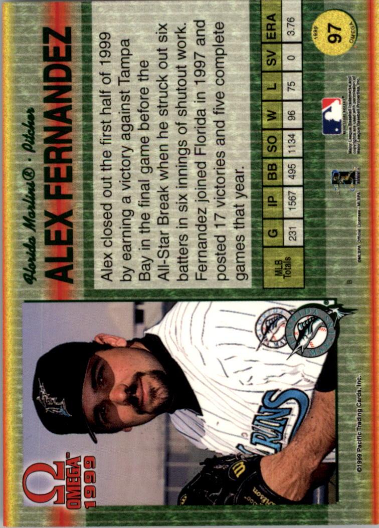 1999 Pacific Omega Copper #97 Alex Fernandez back image