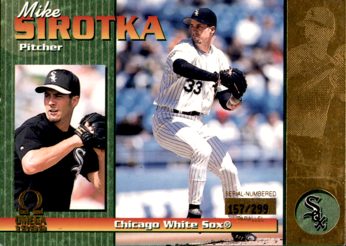 1999 Pacific Omega Gold #59 Mike Sirotka
