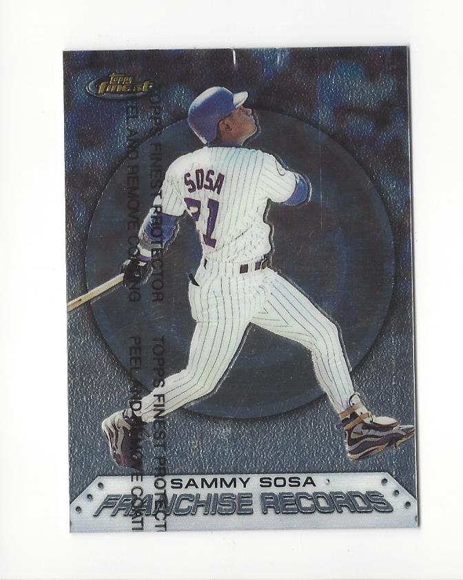 1999 Finest Franchise Records #FR8 Sammy Sosa