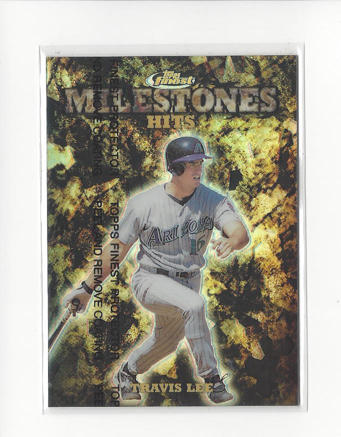 1999 Finest Milestones #M7 Travis Lee HIT