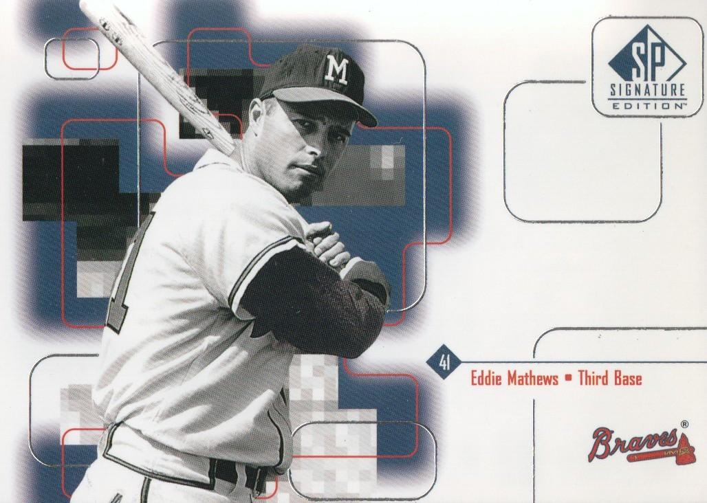 1999 SP Signature #176 Eddie Mathews
