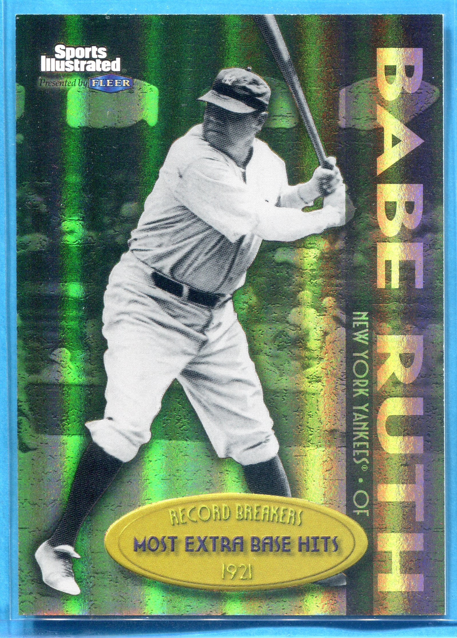 1999 Sports Illustrated Greats of the Game Record Breakers Gold #3 Babe Ruth