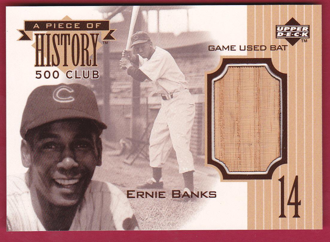 1999 Upper Deck A Piece of History 500 Club #EB Ernie Banks