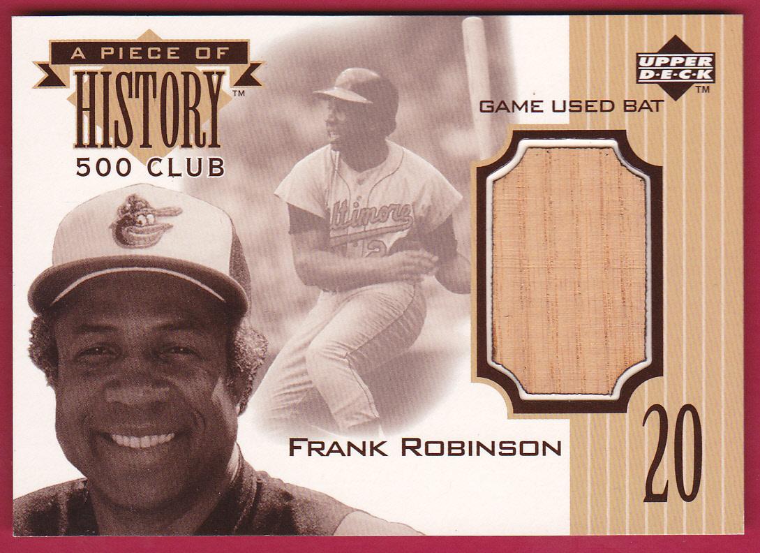 1999 Upper Deck A Piece of History 500 Club #FR Frank Robinson