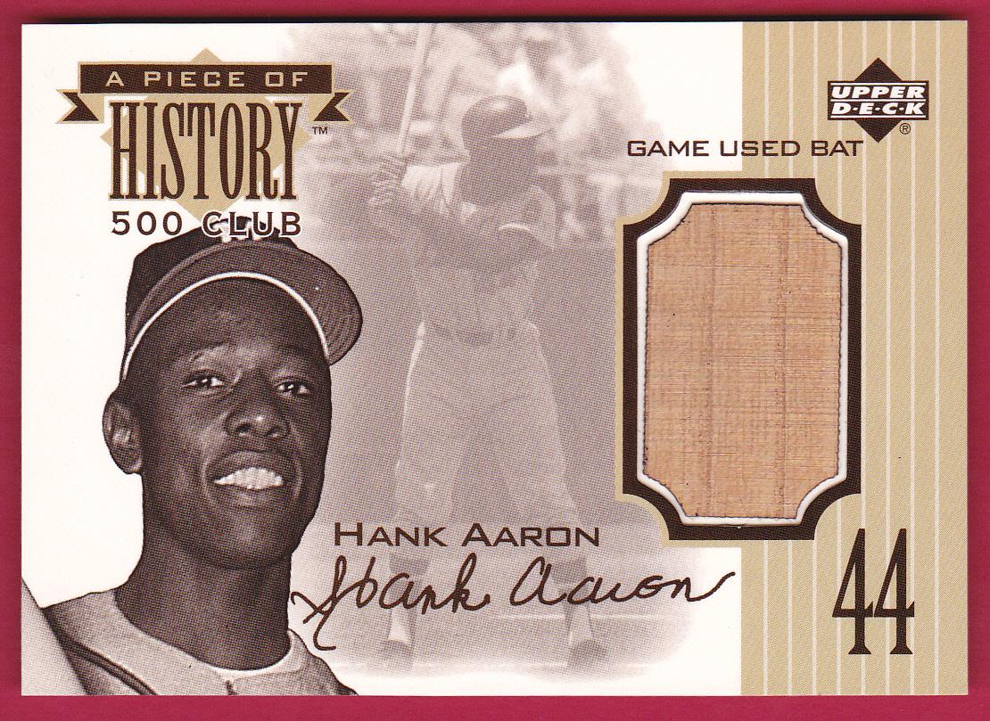 1999 Upper Deck A Piece of History 500 Club #HA Hank Aaron